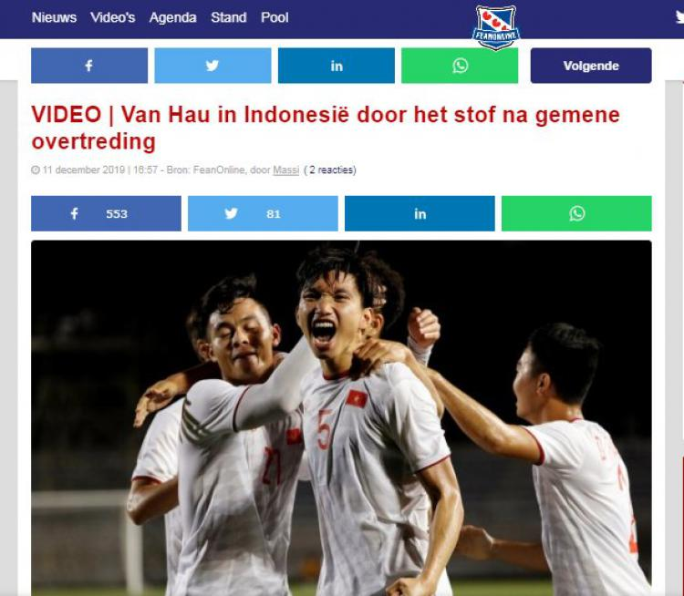 Media Belanda Kompak Berikan Pujian kepada Penghancur Kaki Evan Dimas Copyright: Voetbal International