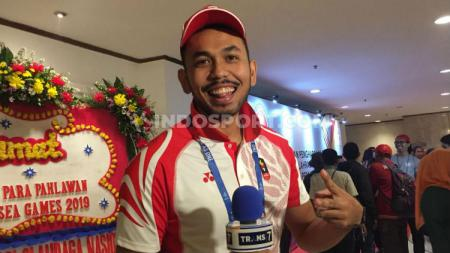 Pemain timnas voli Indonesia di SEA Games 2019, Putu Randu. - INDOSPORT
