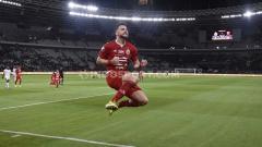 Indosport - Selebrasi Simic di laga Liga 1 Persija vs Madura United.