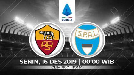 Prediksi pertandingan Serie A Liga Italia 2019-2020 antara AS Roma vs SPAL, Senin (16/12/19). - INDOSPORT