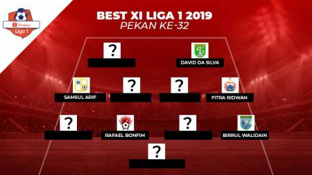 Pagelaran Liga 1 2019 pekan ke-32 memang telah usai tetapi berikut ada Starting XI terbaik yang diwarnai banyaknya legiun asing. - INDOSPORT
