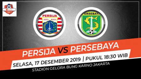 Pertandingan antara Persija Jakarta vs Persebaya Surabaya. - INDOSPORT
