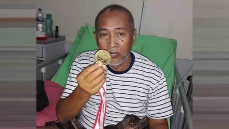 Legenda klub Liga 2 PSMS Medan, Sugito, saat ini sedang sakit. Manajemen Ayam Kinantan pun mengusulkan laga amal. - INDOSPORT