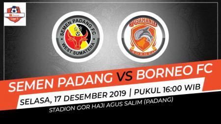 Pertandingan Liga 1 2019 pekan ke-33 antara Semen Padang vs Borneo FC. - INDOSPORT