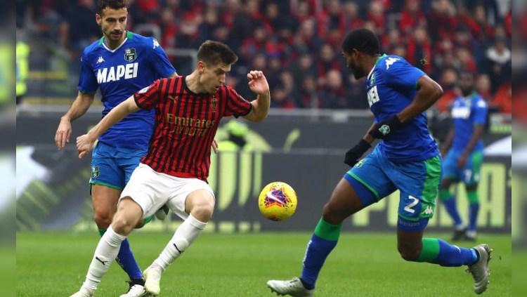 Hasil Pertandingan Serie A Italia AC Milan vs Sassuolo: Rossoneri Tertahan