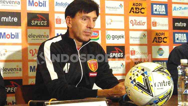 Pelatih klub Liga 1 2019, Perseru Badak Lampung, Milan Petrovic. Copyright: Arif Rahman/INDOSPORT