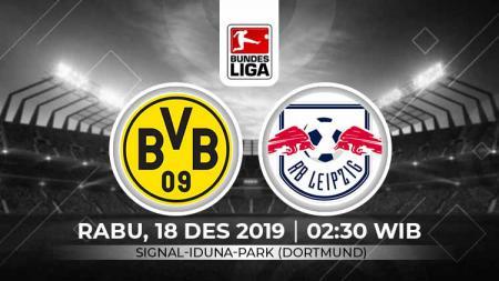 Prediksi pertandingan Bundesliga Jerman pada pekan ke-16 antara Borussia Dortmund vs RB Leipzig. - INDOSPORT