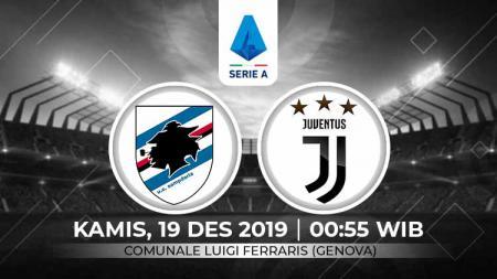 Prediksi Sampdoria vs Juventus dalam lanjutan pekan ke-17 kompetisi sepak bola Serie A Liga Italia 2019-2020, Kamis (19/12/19) dini hari WIB. - INDOSPORT