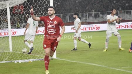 Striker andalan Persija Jakarta, Marko Simic, mengungkap bek terkuat yang pernah ia hadapi di Liga 1. - INDOSPORT