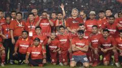 Indosport - Momen perpisahan Bambang Pamungkas dengan Persija Jakarta di SUGBK.