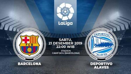 Laga pekan ke-18 LaLiga Spanyol antara Barcelona melawan Deportivo Alaves, Sabtu (21/12/19), 22.00 WIB, bisa disaksikan secara live streaming di BeIN Sports. - INDOSPORT