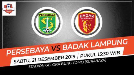 Link live streaming pertandingan pekan terakhir Liga 1 2019 antara Persebaya Surabaya vs Badak Lampung FC. - INDOSPORT