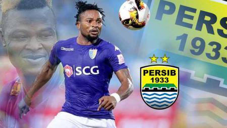 Persib Bandung, klub Liga 1 Indonesia, dikabarkan tertarik merekrut penyerang Nigeria bernama Ganiyu Oseni. - INDOSPORT