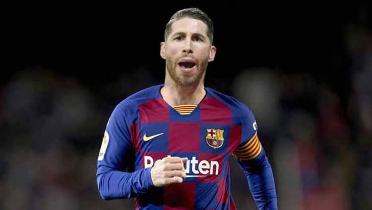 Sergio Ramos (Barcelona). Copyright: Grafis:Ynt/Indosport.com