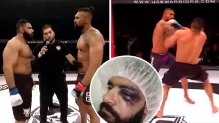 Mahmoud Hassan, si 'Hulk' petarung MMA dari Mesir yang KO dalam 8 detik. - INDOSPORT