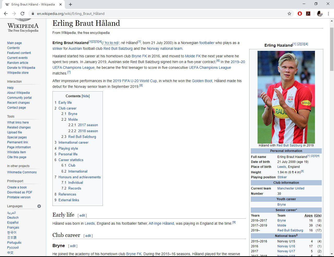 Sebut Manchester United Resmi Rekrut Erling