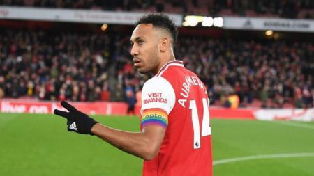 Statistik buruk Pierre-Emerick Aubameyang bersama Arsenal di Liga Inggris musim 2020/21 mendapat sindiran dari Darren Bent. - INDOSPORT