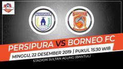 Indosport - Pertandingan antara Persipura Jayapura vs Borneo FC.