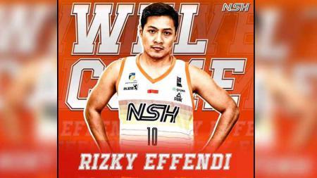 Rizky Effendi resmi gabung ke tim IBL,NSH Jakarta. - INDOSPORT