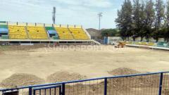 Indosport - Stadion Citarum saat awal-awal direnovasi oleh Pemkot Semarang untuk menyambut Liga 1 2020.