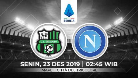 Pertandingan antara Sassuolo vs Napoli. - INDOSPORT