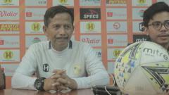 Indosport - Pelatih Barito Putera, Djajang Nurdjaman, memberikan keterangan pers menjelang laga pamungkas Liga 1 2019.