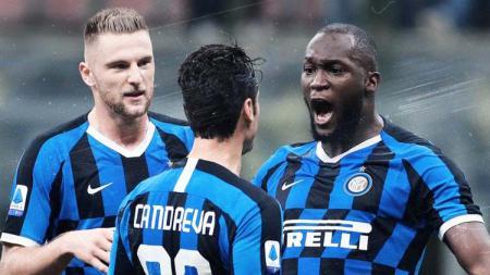 Striker Inter Milan, Romelu Lukaku, sukses cetak sejarah bahkan sebelum pertandingan Serie A Liga Italia kontra AC Milan. - INDOSPORT