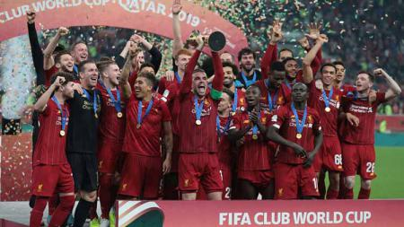Liverpool sukses menjuarai Piala Dunia Antarklub usai mengalahkan Flamengo 1-0 di babak final, Minggu (22/12/19) dini hari WIB. - INDOSPORT