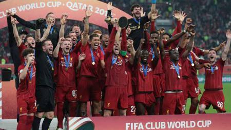 Klub Liga Inggris Liverpool sukses menjuarai Piala Dunia Antarklub usai mengalahkan Flamengo 1-0 di babak final, Minggu (22/12/19) dini hari WIB. - INDOSPORT