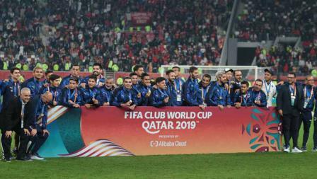 Skuat Flamengo pada Piala Dunia Antarklub usai dikalahkan Liverpool 1-0 di babak final, Minggu (22/12/19) dini hari WIB.
