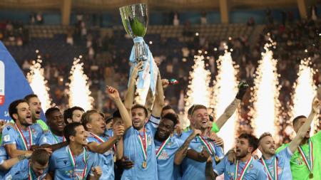 Lazio belakangan mampu memperlihatkan magisnya sebagai tim Elang Ibu Kota, yang kian mengusik persaingan Juventus dan Inter Milan di perburuan gelar juara Serie A Italia 2019/20. - INDOSPORT