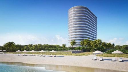 Tampak gedung dari villa yang dimiliki Novak Djokovic di Miami, Amerika Serikat.