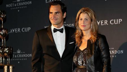 Sering tampil bersama sang istri Mirka, Roger Federer tak kalah gaya.