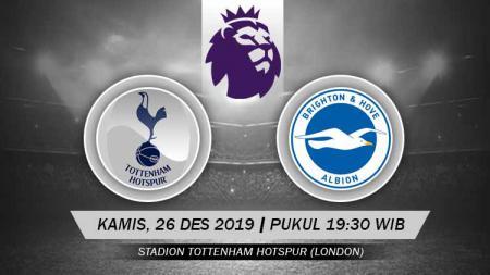 Pekan ke-19 Liga Inggris 2019/20 akan tersaji laga antara Tottenham Hotspur melawan Brighton & Hove Albion, Kamis (26/12/19), 19.30 WIB, di Tottenham Hotspur Stadium. Spurs diperkirakan bisa menemukan kebangkitannya di laga ini. - INDOSPORT