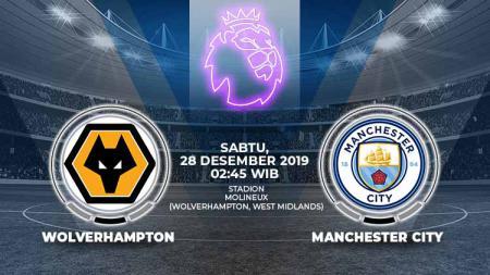Pertandingan antara Wolverhampton Wanderers vs Manchester City. - INDOSPORT