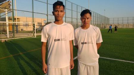 Dua pemain muda asal Indonesia, Muhammad Reza Kusuma dan Helmy Putra Damanik, tengah menjalani trial di Uni Emirat Arab. Keduanya mengikuti latihan dengan dua klub sekaligus, Al Jazira dan Regional Sport. - INDOSPORT