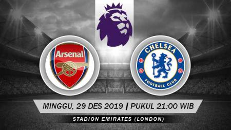 Berikut prediksi pertandingan Liga Inggris 2019-2020 pekan ke-20 antara Arsenal vs Chelsea di Stadion Emirates, Minggu (29/12/19) WIB - INDOSPORT