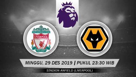 Link live streaming pertandingan pekan ke-20 Liga Inggris antara Liverpool vs Wolverhampton Wanderers di Stadion Anfield, Minggu (29/12/19) mulai pukul 23.30 WIB. - INDOSPORT