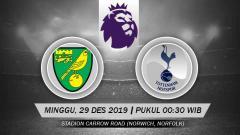 Indosport - Pertandingan antara Norwich City vs Tottenham Hotspur.