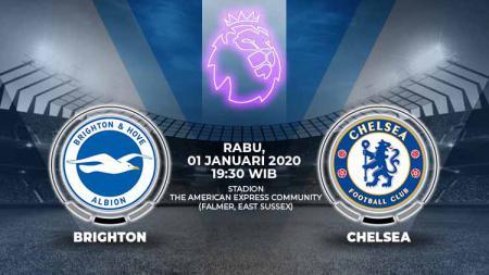 Prediksi pertandingan antara Brighton & Hove Albion vs Chelsea di Liga Inggris pekan ke-20. - INDOSPORT