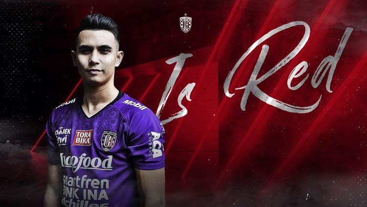 Ilustrasi Bali United ketika memperkenalkan Nadeo Argawinata. Copyright: baliutd.com