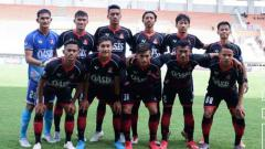 Indosport - Starting XI Persijap Jepara saat menghadapi PSKC Cimahi di laga final Liga 3 2019.