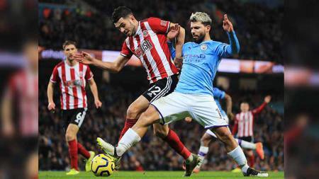 Hattrick yang dicetak Sergio Aguero kala Manchester City menumbangkan tuan rumah Aston Villa tak hanya berhasil menaklukan catatan milik Thierry Henry. - INDOSPORT