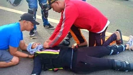 Mary Grace Pe pembalap wanita, Mary Grace Pe meninggal dunia saat sedang balapan di kejuaraan Road Tour Endurance Challenge 400 Negros Island 2019. - INDOSPORT