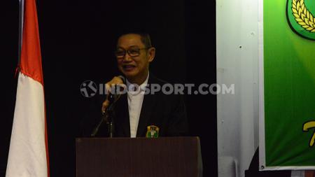 Ketua Umum Pengprov PBSI Sumut, Ngadimin Suripno. - INDOSPORT