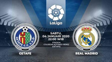Berikut link live streaming pertandingan LaLiga Spanyol antara Getafe vs Real Madrid, Sabtu (04/01/20). - INDOSPORT