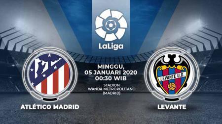 Berikut prediksi pertandingan kompetisi sepak bola LaLiga Spanyol pada pekan ke-19 antara Atletico Madrid vs Levante. - INDOSPORT