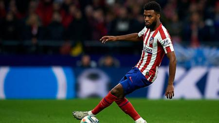 Pemain sepak bola Atletico Madrid, Thomas Lemar, dikabarkan sudah bersedia untuk meninggalkan Wanda Metropolitano Stadium dan bergabung dengan klub Liga Inggris, Arsenal. - INDOSPORT