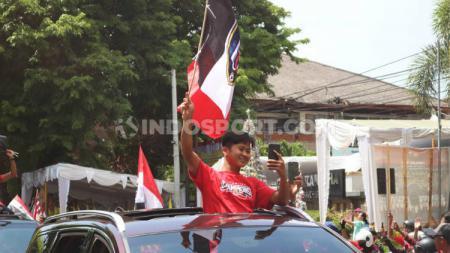 Winger muda klub Liga 1 Bali United, Muhammad Rian Firmansyah memutuskan untuk berlatih di Pontianak, sembari menunggu latihan dimulai. Eks Sarawak FA Malaysia ini menjalankan program dari tim pelatih. - INDOSPORT