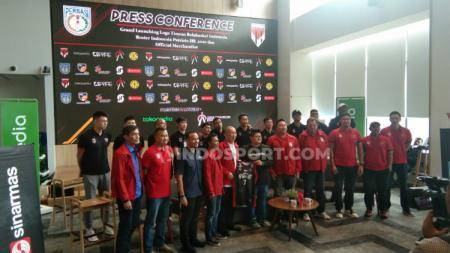 Pengurus Pusat Persatuan Bola Basket Seluruh Indonesia (PP Perbasi) memperkenalkan logo baru untuk Timnas Indonesia. - INDOSPORT